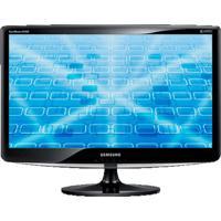 "Monitor Samsung B1630N Lcd 15.6"" - Widescreen - Resolução 1,360 X 768 - Preto Brilhante"