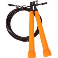 Corda De Pular Em Aço 3,2M Liveup Ls3122 Jump Rope Preto