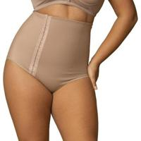 Cinta Modeladora Alta Com Fecho Plus Size Shanty Feminina - Feminino-Nude