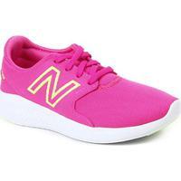Tênis Infantil New Balance Kcoast Ypcs Feminino - Feminino-Rosa+Branco