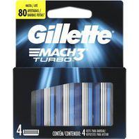Carga Para Aparelho De Barbear Gillette Mach3 Turbo Com 4 Unidades 4 Unidades