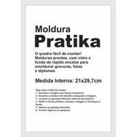 Moldura Em Madeira Pratika 34X25Cm Branca
