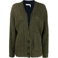 See By Chloé Cardigan Color Block - Verde