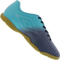 Chuteira Futsal Umbro Vibe In - Adulto - Azul Esc/Azul Cla