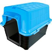 Casinha Plástica Retangular Para Pets 45X47Cm Azul