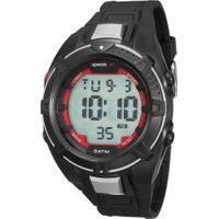 Kit De Relógio Digital Speedo Masculino + Carregador Portátil - 81131G0Evnp5K Preto