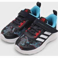 Tênis Adidas Performance Infantil Fortarun Homem-Aranha Azul-Marinho/Vermelho