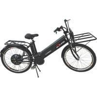 Bicicleta Elétrica Duos Cargo 800W 48V 12Ah Aro 26 Preta