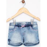 Short Infantil Em Jeans Com Amarração - Tam 1 A 4