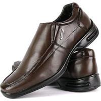 Sapato Conforto Social Sapatofran Masculino - Masculino-Marrom