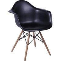 Poltrona Eames Dar Com Braço- Preta- 82X62X44Cm-Or Design