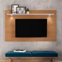 Painel Para Tv Até 65 Polegadas Itapuã Marrom E Off White