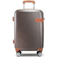 Mala De Viagem Premium- Dourada & Marrom Claro- 55X3Jacki Design