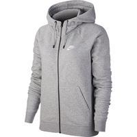 Jaqueta Nike Essential Nsw C/ Capuz Feminina - Feminino-Cinza+Branco