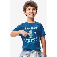 Camiseta Azul Claro Paetê Reversível Malwee Kids