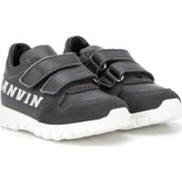 Lanvin Enfant Tênis Com Velcro - Preto