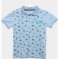 Camisa Polo Infantil Kiko & Kika Botonê Masculina - Masculino