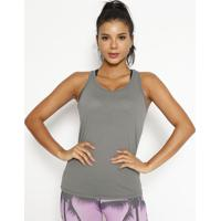 Regata Nadador Lisa- Cinza- Physical Fitnessphysical Fitness