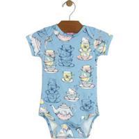 66602bbe5 Netshoes; Body Bebê Hello Kitty Suedine Feminino - Feminino-Azul Claro