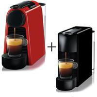 Cafeteira Nespresso Essenza Mini Vermelho 110V - C30-Br + Cafeteira Nespresso Essenza Mini Preto 110V - C30-Br
