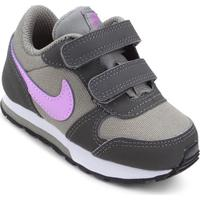 Tênis Infantil Nike Md Runner 2 - Feminino-Cinza+Branco