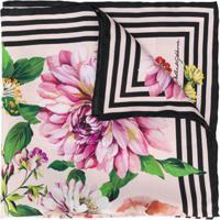 Dolce & Gabbana Floral Rose Print Scarf - Rosa