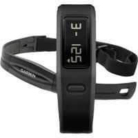 Smartband Garmin Vivofit Fitness + Pulseira De Monitor Cardíaco Preto