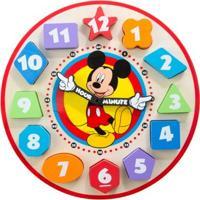 Relógio Em Madeira - Disney - Mickey Mouse - Melissa And Doug