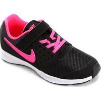 Tênis Infantil Nike Downshifter7 Feminino - Feminino-Preto+Rosa
