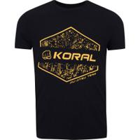 Camiseta Koral Team - Masculina - Preto