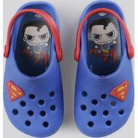 Babuche Infantil Super Homem Azul Royal