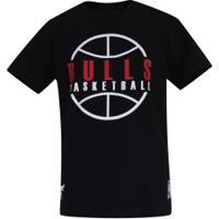 Camiseta Nba Chicago Bulls Outline - Infantil - Preto
