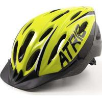 Capacete Atrio Para Ciclismo Mtb 2.0 Com Led Traseiro 19 Entradas De Ventilação Neon - Unissex