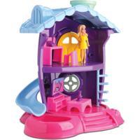 Sala De Tv Da Judy - Casinha De Boneca - Samba Toys - Roxo