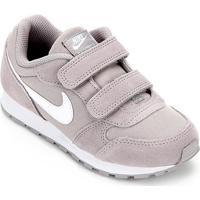 Tênis Infantil Nike Md Runner 2 Pe Velcro Psv - Masculino-Cinza+Branco