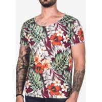 Camiseta Tropical Vinho 102449