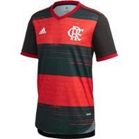 Camisa Authentic Cr Flamengo 1 Adidas Masculina - Masculino-Preto+Vermelho