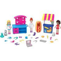 Playset E Mini Boneca - Polly Pocket - Carrinho De Moda E Comida - Mattel