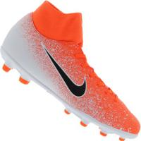 Chuteira De Campo Nike Mercurial Superfly 6 Club Mg - Adulto - Laranja/Branco