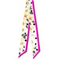 Dolce & Gabbana Lenço Com Estampa Floral De Seda - Rosa