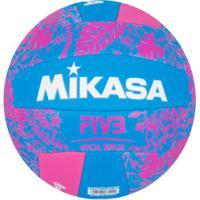 Bola De Vôlei Mikasa Mk000066 - Azul/Rosa