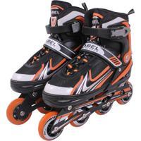 Patins Rollers Inline Aluminium 500 Laranja Bel Sports M