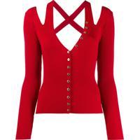 Versace Jeans Couture Blusa De Tricô - Vermelho