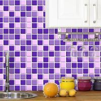 Saldão - Adesivo De Azulejo Pastilha 3D Lilás 15X15 Cm