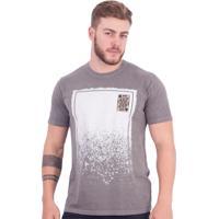 Camiseta Royal Brand Estampa Cinza