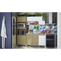 Cozinha Modulada Completa Com 3 Módulos Pérola/Branco - Caaza