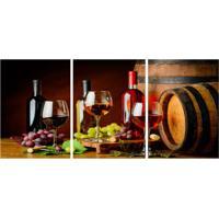 Quadro Decorativo Vinho Estampado