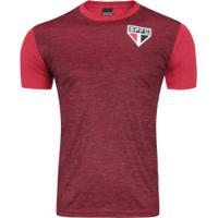 Camiseta Do São Paulo Mescla 18 - Masculina - Vermelho