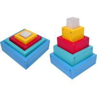 Caixas De Encaixe Ciabrink Madeira Multicolorido