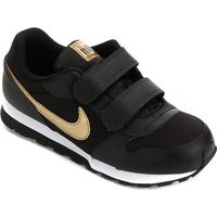 Tênis Infantil Nike Md Runner 2 Vtb Psv Feminino - Feminino-Preto+Prata